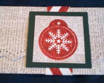 Money Holder, Voucher Holder, Gift Card Envelope, Money Envelope, Ticket Holder, Ticket Envelope, Holiday Envelope, Snowflake, Newsprint