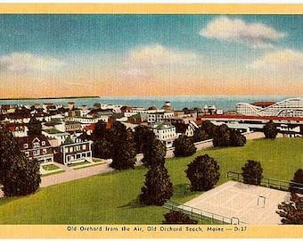 Vintage Maine Postcard - Old Orchard Beach (Unused)
