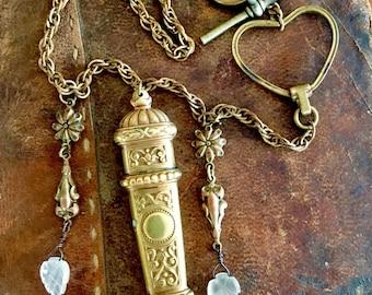 Fabulous French Needle Case Necklace