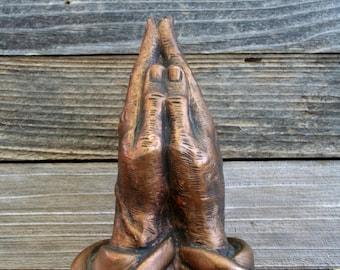 Vintage 1980's Praying Hands Sculpture