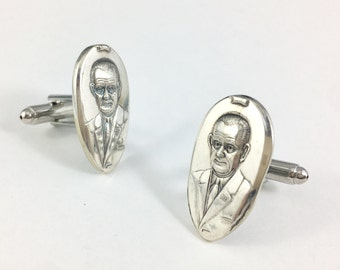 Lyndon B Johnson Cuff links, Lyndon B Johnson, Lyndon B Johnson Gift, President Johnson, USA cuff links, Lyndon B Johnson memorabilia