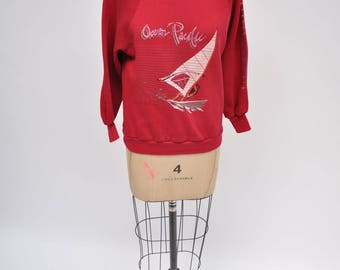 vintage sweatshirt OCEAN PACIFIC retro 80s OP windsurfer 80s extra small