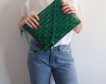 Wicker Purse Bag Vintage Rattan Bag Purse Shoulder Bag Crossbody