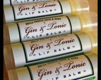 Gin & Tonic Lip Balm - Novelty Lip Balm Lip Butter, for men women • Cocktail lip balm, party favor, girlfriend gift • Happy Hour Lip Balm