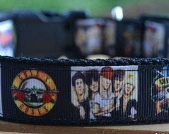 Guns & Roses dog collar leash
