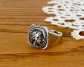 Vintage Silver Greek/Roman Signet Ring