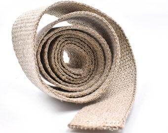 Hemp Webbing,  1 Inch,   4 Feet, Natural, Hemp Belt Webbing -W2