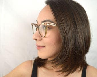 Amazing Vintage 1950s Cat Eye Glasses Frames - U/Z 5 1/2 USA
