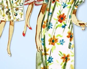 1960s Vintage Butterick Sewing Pattern 3086 Misses Muu Muu House Dress Nighty SM