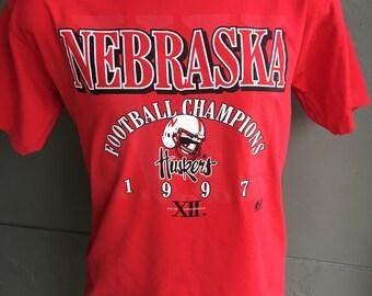 Nebraska Cornhuskers 1997 National Champions vintage tshirt - red size XL