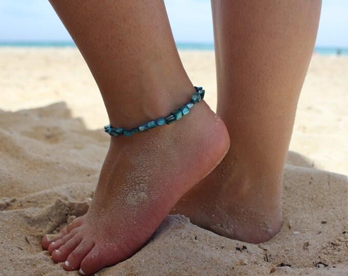 Mermaid scales beach anklet.
