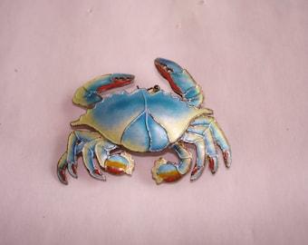 Sea Life Blue Crab Brooch