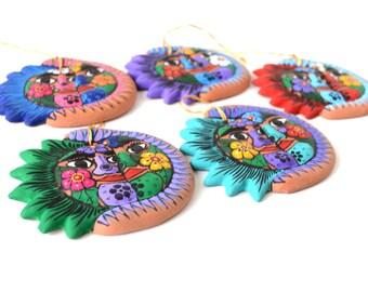 Set of 2 Christmas Ornaments - Ornament Gift Box - Handmade Ornaments -  Christmas Ornaments - Ceramic Ornaments - Christmas Tree Ornaments