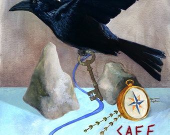 Safe Passage Print — Abacus Corvus