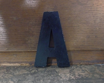 """MARQUEE Letter A, Sign Letter, A, Cast Aluminum Letter, Alphabet Letter A, Wall Art, Signage, 5"""" High"""