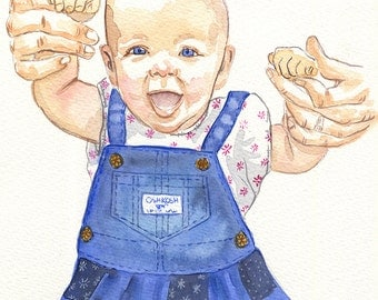 Custom Portrait: 8x10 Single Person Watercolor