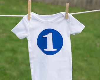 One Year Birthday Bodysuit / First Birthday Outfit / Birthday Infant Bodysuit / Birthday Photo Prop Bodysuit / Birthday Boy / Birthday Girl