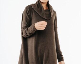 Brown dress   Brown maxi dress   Cowl neck dress   LeMuse brown dress