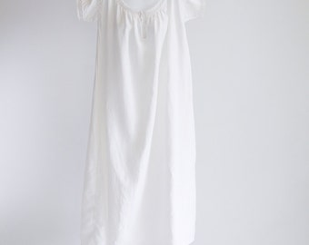 Linen Short Sleeved Nightgown, Size M - L