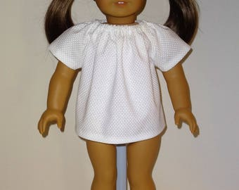 Peasant Top/ Blouse for 18 inch American Girl Doll