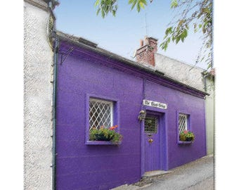 The Giants Purple House in Kinsale, Ireland - Computer Artistically Enhanced Photographic Art Creation