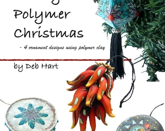 Polymer Clay Tutorial, Polymer Clay Book, DIY Ornament, Ornament Tutorial, Boho Ornaments, Christmas Gifts, Southwestern Decor, Millefiori