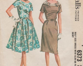 McCalls 6373 / Vintage 60s Sewing Pattern / Dress / Bust 45