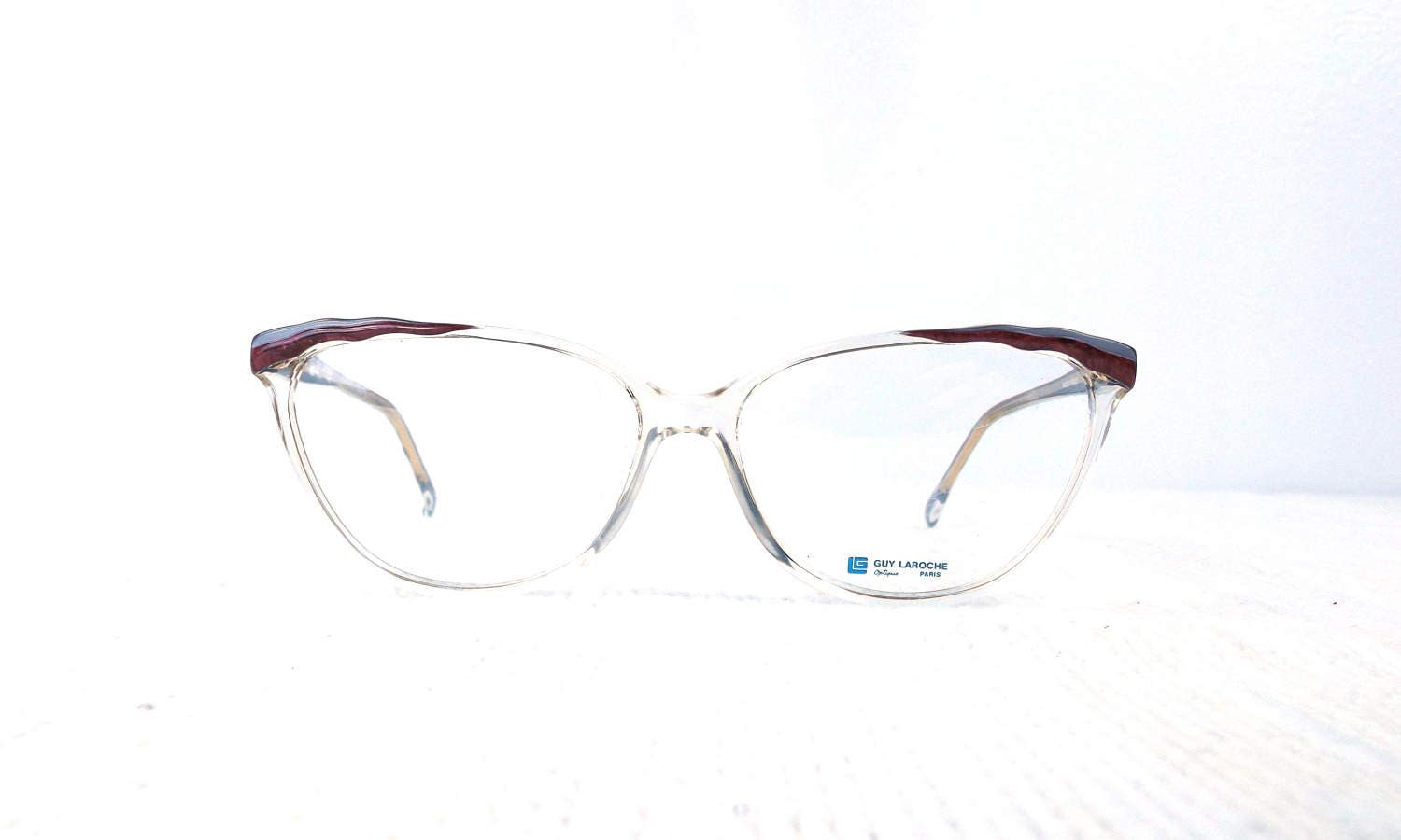 7d1b73fbdc vintage 70s cat eye eyeglasses guy laroche acetate oversize frames glasses  eyewear crystal clear designer layered