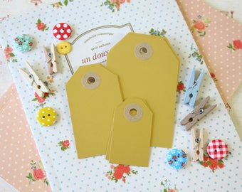 Pearl Aurum Gold handmade reinforced Luggage Tags