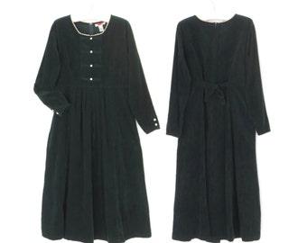 90s Jumper Dress * Vintage Corduroy Dress * Oversized 90s Dress * Large