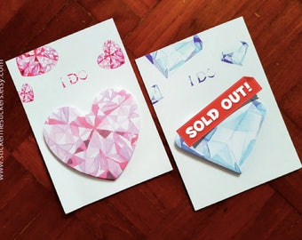 Heart sticky note, Heart post-its, Diamond sticky note, Diamond post-its, Love sticky notes, Love post-its, Jewel post-its