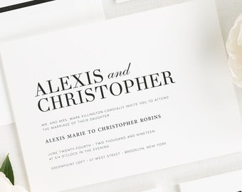 Urban Glamour Wedding Invitations - Sample