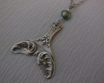 Mermaid Tail Necklace  Antique Spoon Necklace