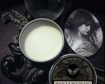 Magick and Moonlight Natural Solid Perfume Gypsy Apothecary Lime, Lavender, Almond,Jasmine, Sandalwood,Frankincense,Coconut