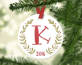 Personalized Christmas Ornaments Employee Gift Employee Christmas Gifts Monogram Christmas Ornaments Christmas Gifts for Her Christmas Decor