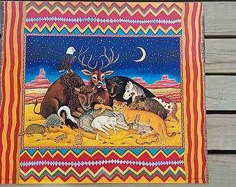 """Diana Bryer, """"When the Coyote lies with the Lamb"""" offset litho poster, 18"""" x 21"""", personalized, signed by artist"""