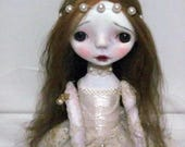 Handmade Collectible Unique -OOAK- Clay poseable Art doll- Mia
