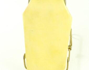 Eyeglasse Case Leather Vintage 1960s Bright Yellow