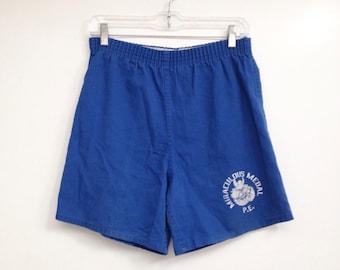 Vintage 1970s Miraculous Medal Vikings Cotton Gym Shorts