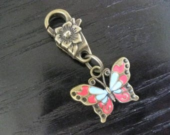 Bronze & Enameled Butterfly Midori Planner Journal Charm