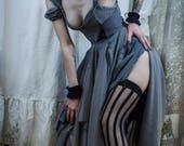 Deconstructed Gray Grecian Goddess Dress
