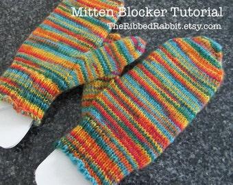 PDF Pattern for DIY - Mitten Blockers, How to make your own mitten blockers