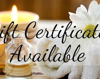 GIFT CERTIFICATES Cedar Creek Soaps Gift Certificates