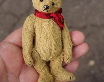 "Sprinkles, Miniature Viscose 3 3/4"""" Artist Teddy Bear by Aerlinn Bears"