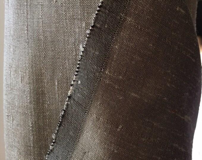 "Gray Grey 100% dupioni silk fabric yardage By the Yard 55"" wide"