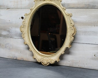 Vintage French Country Mirror,  Ornate Decorative Mirror