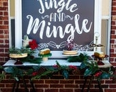 Christmas Party Backdrop PRINTABLE (Instant Download) by Lindi Haws of Love The Day