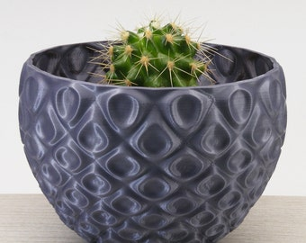 Cacti Bowl Planter Medium Gray