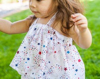 SALE Star Banner Swing Top /  Toddler Top / Baby Top / Boho  / Baby clothing / Toddler Clothing / Summer Top