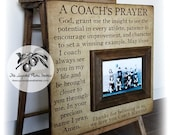 Football Coach Gift, Coach Thank You Gift, Coach Frame, A Coach's Prayer, 16x16 The Sugared Plums Frames